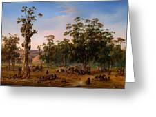 An Aboriginal Encampment Near The Adelaide Foothills Greeting Card