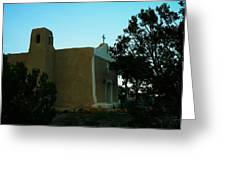 An Adobe Church In New Mexico Greeting Card