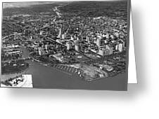 An Aerial View Of Miami Greeting Card