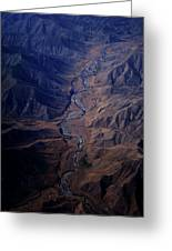 An Aerial View Of Winding Rivers Greeting Card