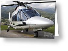 An Agustawestland A109 Power Elite Greeting Card