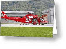 An Agustawestland Aw109 Helicopter Greeting Card