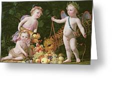 An Allegory Of Peace And Plenty Greeting Card