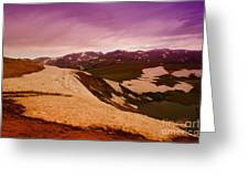 An Alpine Lake Near The Top Of Beartooth Pass  Greeting Card