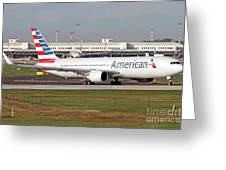 An American Airlines Boeing 767 Greeting Card