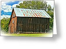 An American Barn 2 Oil Greeting Card
