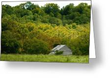 An American Country Scene Greeting Card