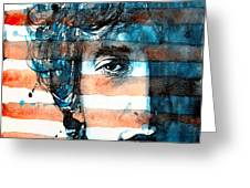 An American Icon Greeting Card by Paul Lovering