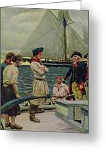 An American Privateer Taking A British Prize, Illustration From Pennsylvanias Defiance Greeting Card