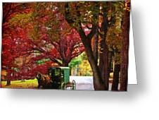 An Amish Autumn Ride Greeting Card