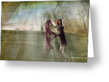 An Angel Was Dancing On The Hill Greeting Card