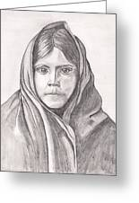 An Apache Daughter Greeting Card