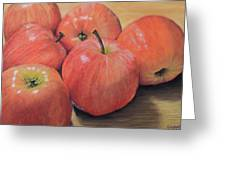 An Apple A Day Greeting Card by Joanne Grant