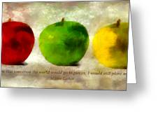 An Apple A Day With Martin Luther Greeting Card