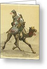 An Arab On His Camel, Riding Greeting Card