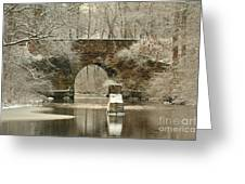 An Arched Stone Bridge Greeting Card