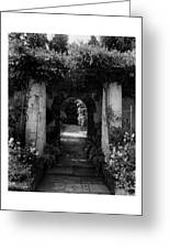 An Archway In The Garden Of Mrs. Carl Tucker Greeting Card