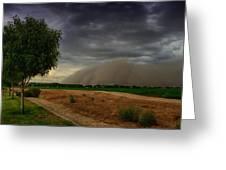 An Arizona Dust Storm  Greeting Card