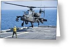 An Army Ah-64d Apache Helicopter Greeting Card