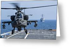 An Army Ah-64d Apache Helicopter Takes Greeting Card