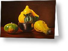 An Arrangement Of Gourds Greeting Card
