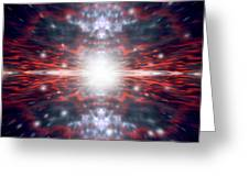 An Artists Depiction Of The Big Bang Greeting Card by Marc Ward