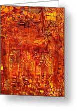 An Autumn Abstraction Greeting Card