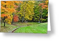 An Autumn Childhood Greeting Card
