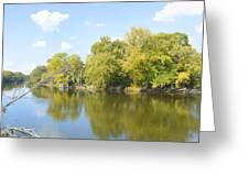 An Autumn Day Panoramic Greeting Card