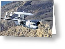 An E-2c Hawkeye Aircraft Flies Greeting Card