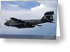An Ea-6b Prowle In Flight Greeting Card