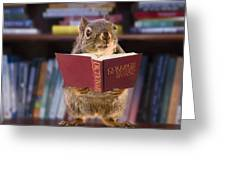 An Educated Squirrel Greeting Card