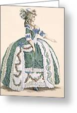 An Elaborate Royal Court Gown, Engraved Greeting Card