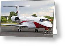 An Embraer Legacy 600 Private Jet Greeting Card