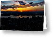 An Empire Sunset Greeting Card