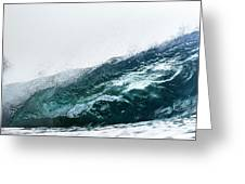An Empty Wave Breaks Over A Shallow Reef Greeting Card