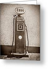 An Esso Petrol Pump From The First Half Greeting Card