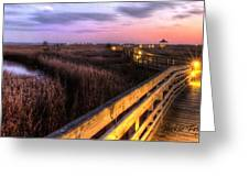An Evening At The Marsh Greeting Card