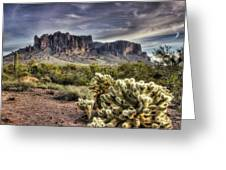 An Evening At The Superstitions Greeting Card