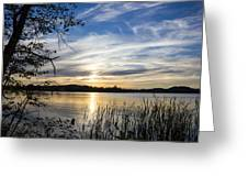 An Evening In Lakes Country Greeting Card