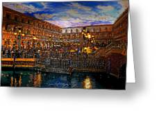 An Evening In Venice Greeting Card by David Lee Thompson