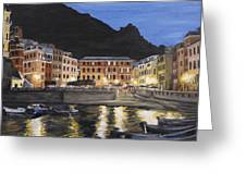 An Evening In Vernazza Greeting Card