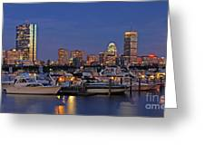 An Evening On The Charles Greeting Card