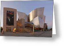 An Evening With Gustavo - Walt Disney Concert Hall Architecture Los Angeles Greeting Card
