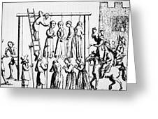 An Execution Of Witches In England Greeting Card