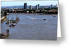 An Expansive View From The Tower Bridge Greeting Card