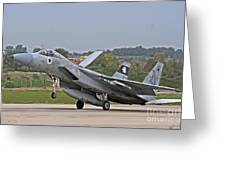 An F-15a Baz Of The Israeli Air Force Greeting Card