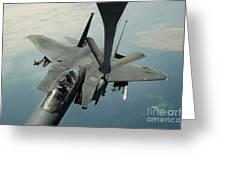 An F-15e Strike Eagle Receives Fuel Greeting Card