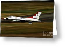 An F-16 Thunderbird Of The U.s. Air Greeting Card
