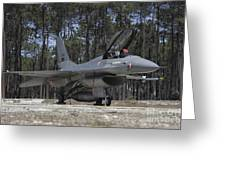 An F-16a Fighting Falcon Greeting Card